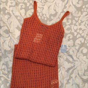 Open-Knit Knee-Length Dress